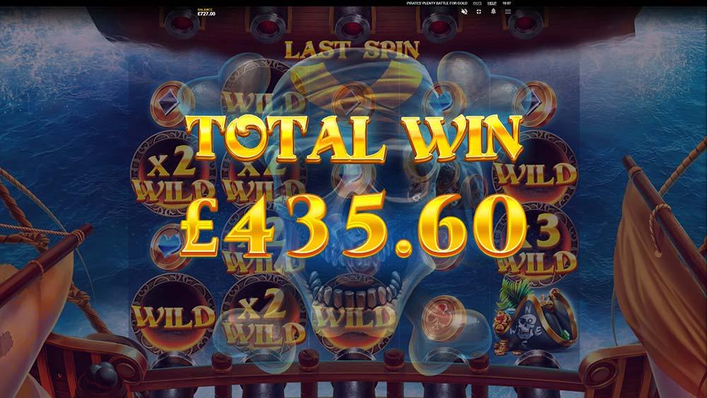 Pirates' Plenty Battle For Gold Slot - Bonus End