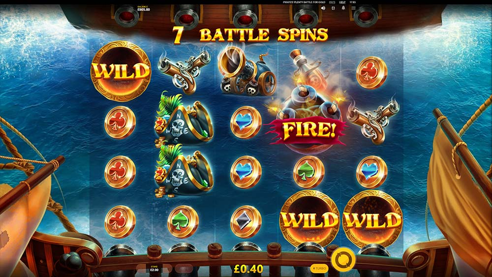 Pirates' Plenty Battle For Gold Slot - Battle Spins