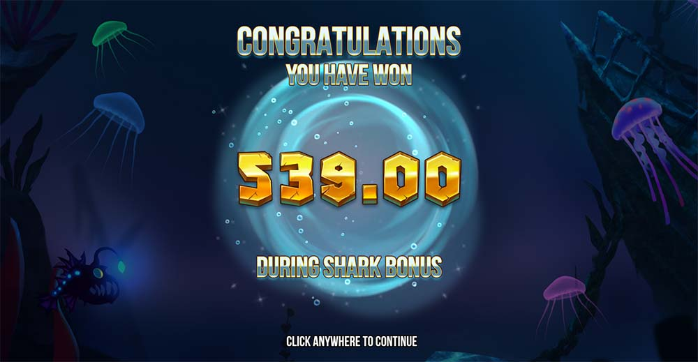 Razor Shark Slot - Bonus End