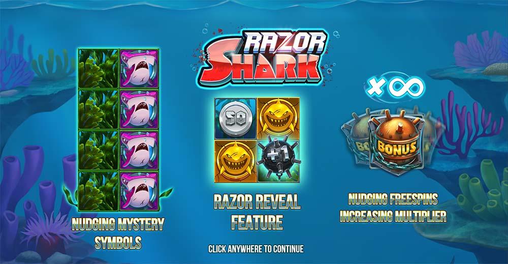 Razor Shark Slot - Intro Screen