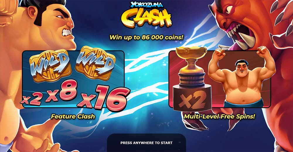 Yokozuna Clash Slot - Intro Screen