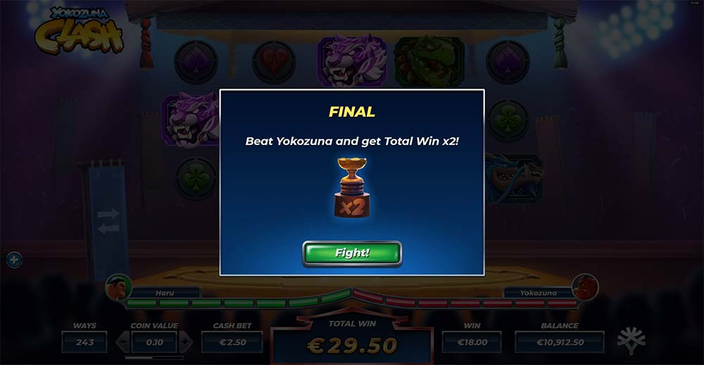 Yokozuna Clash Slot - Final Stage Bonus
