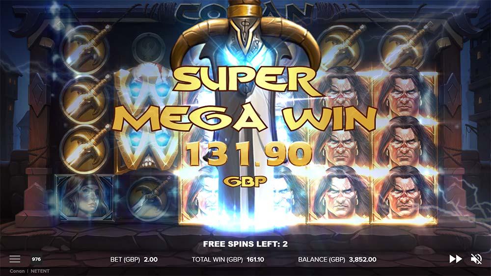 Conan Slot - Super Mega Win