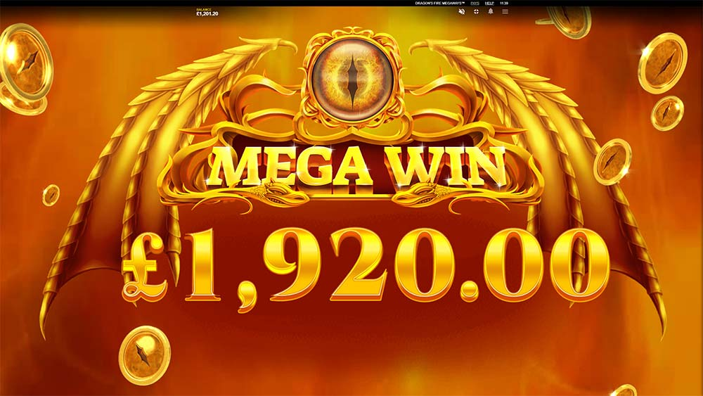 Dragon's Fire Megaways Slot - Mega Win