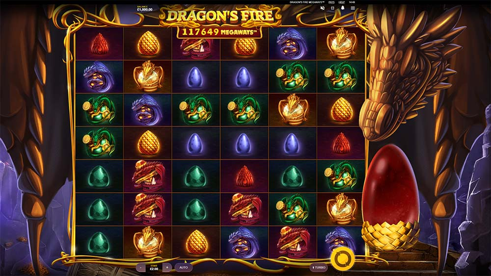 Dragon's Fire Megaways Slot - Base Game