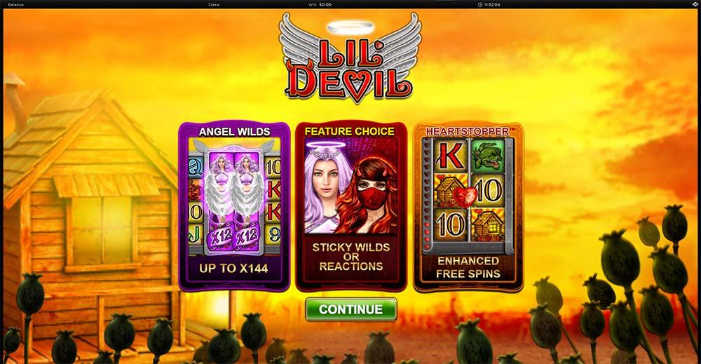 Lil Devil Slot - Intro Screen