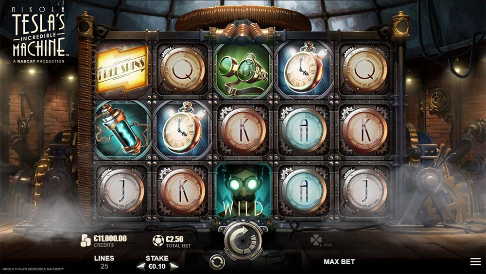 Nikola Tesla's Incredible Machine Slot - Base Game