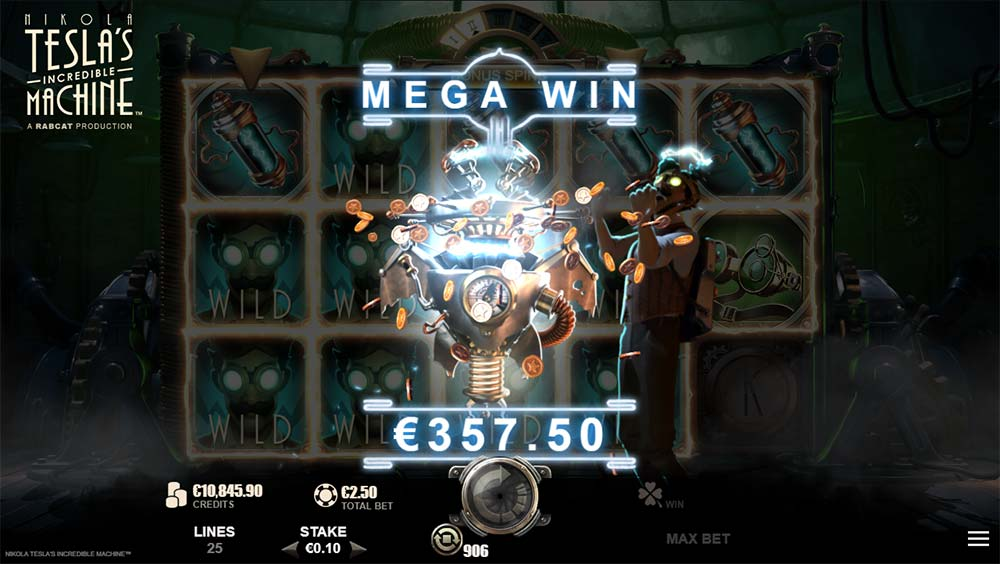 Nikola Tesla's Incredible Machine Slot - Mega Win