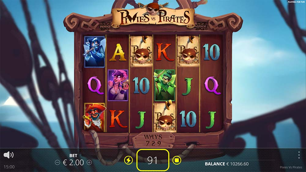 Pixies vs Pirates Slot - Bonus Trigger