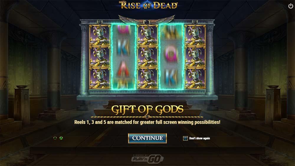 Rise of Dead Slot - Intro Screen