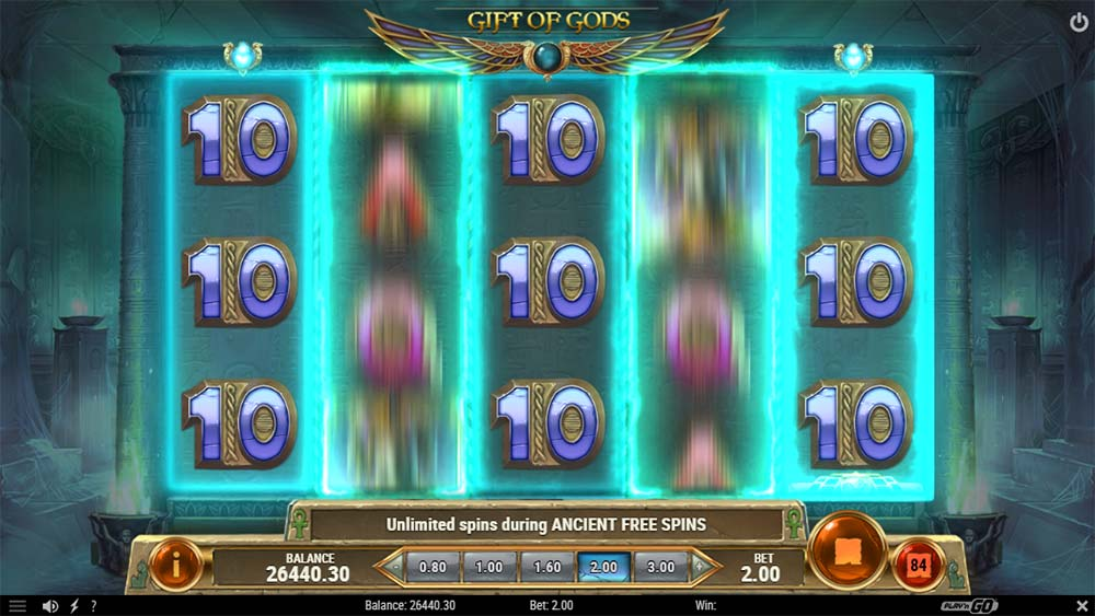 Rise of Dead Slot - Gift of Gods Feature