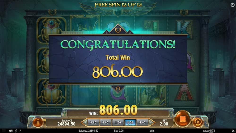 Rise of Dead Slot - Bonus End