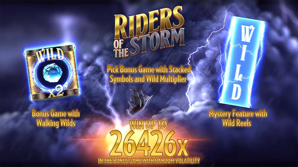 Riders of the Storm Slot - Intro Screen