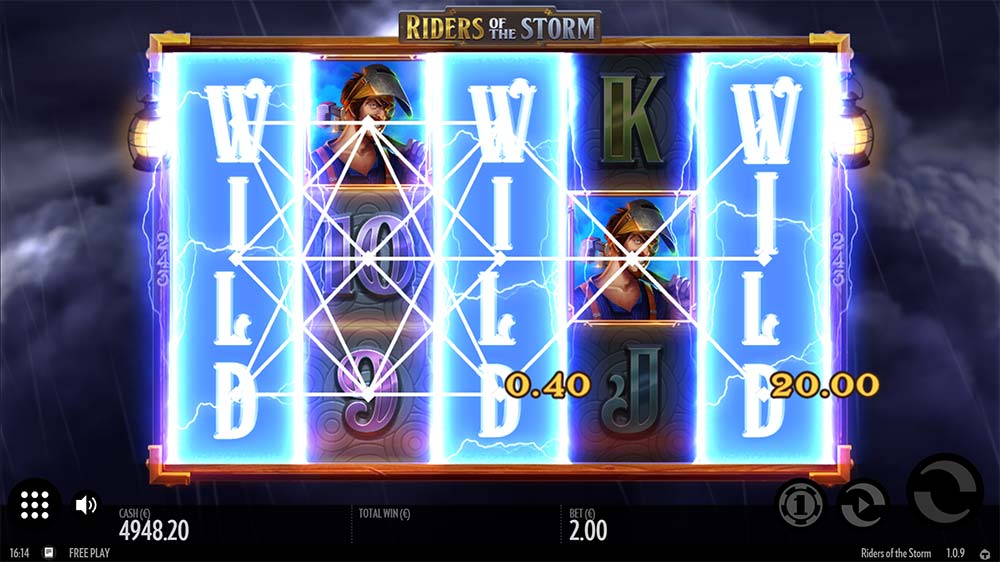 Riders of the Storm Slot - Wild Reels Feature