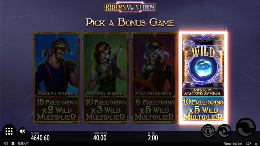 Riders of the Storm Slot - Free Spins Selection