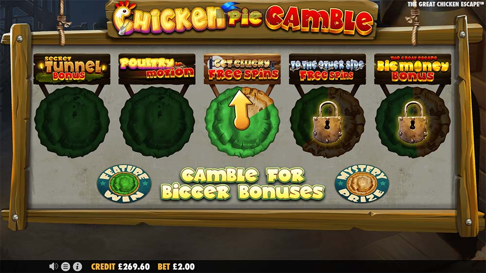 The Great Chicken Escape Slot - Bonus Gamble