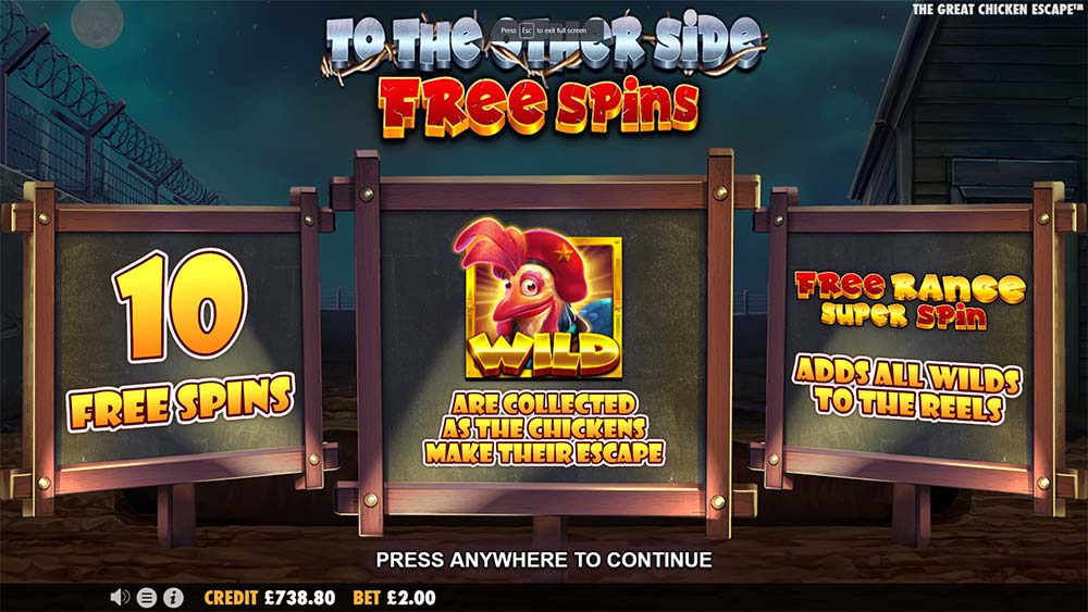 The Great Chicken Escape Slot - Free Spins