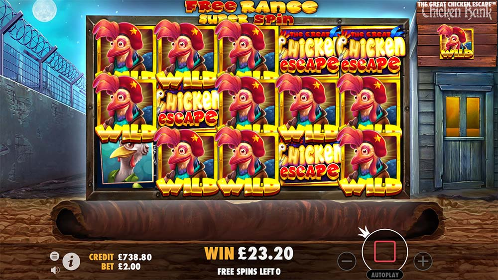 The Great Chicken Escape Slot - Super Spin