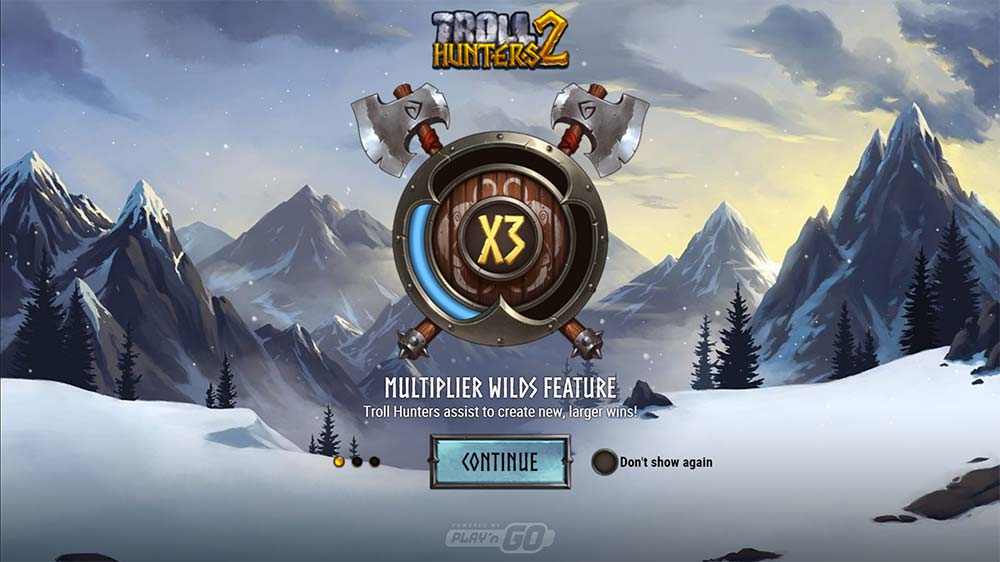 Troll Hunters 2 Slot - Intro Screen