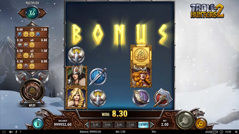 Troll Hunters 2 Slot - Bonus Triggered