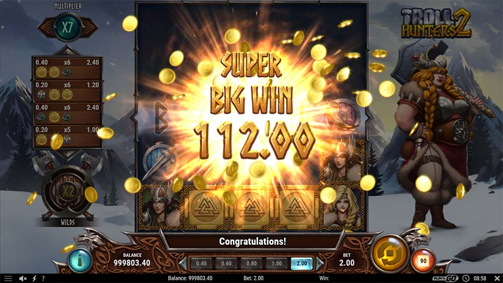 Troll Hunters 2 Slot - Super Big Win