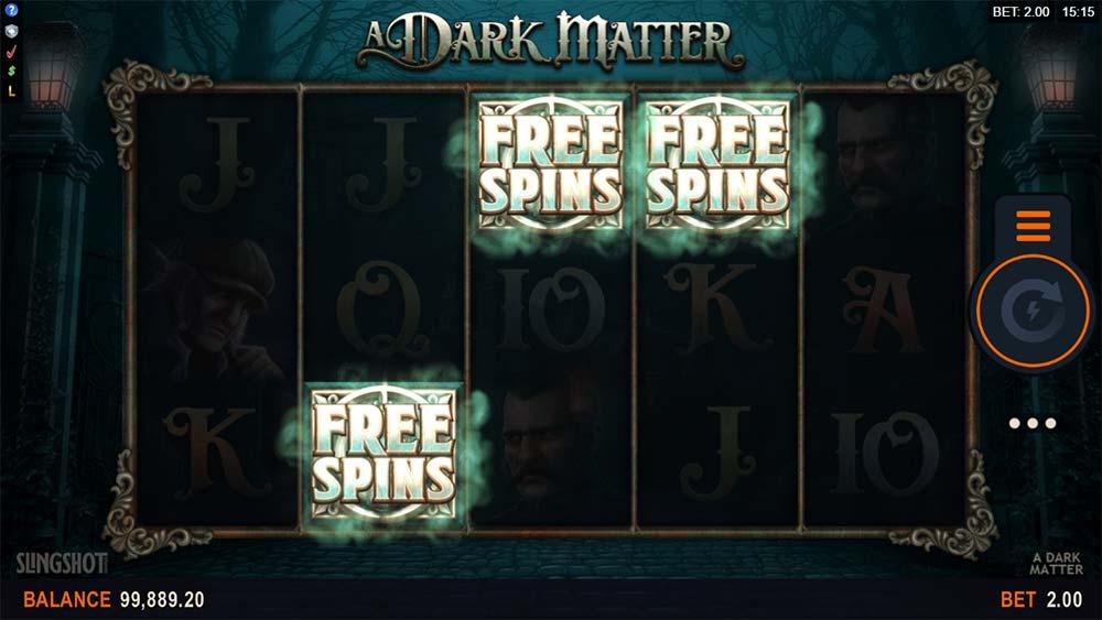 A Dark Matter Slot - Free Spins Triggered