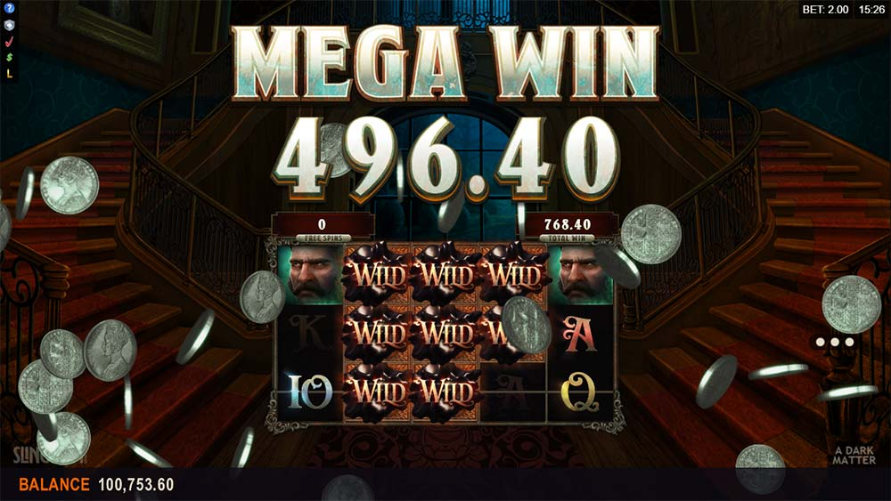 A Dark Matter Slot - 5 of a Kind Win