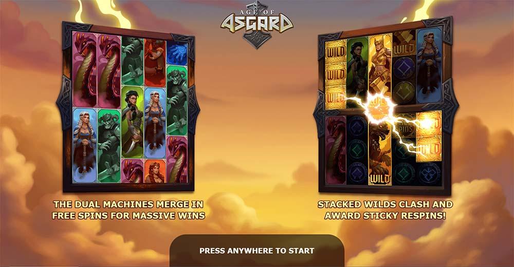 Age of Asgard Slot - Intro Screen