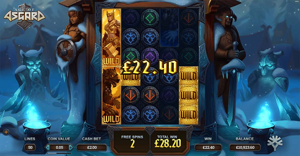 Age of Asgard Slot - Nudging Wilds
