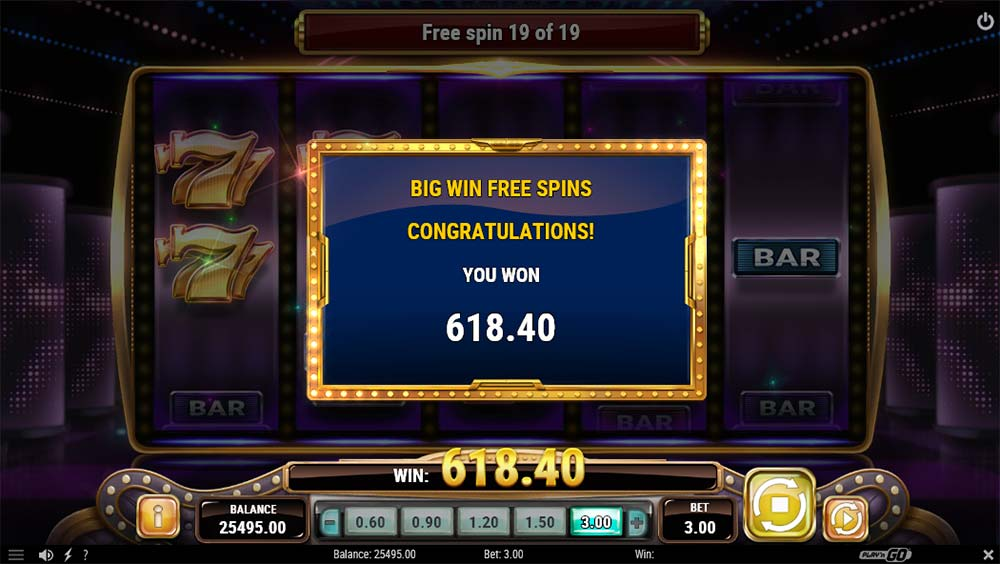 Big Win 777 Slot - Bonus End