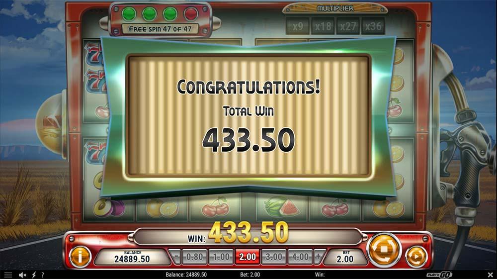 Cash Pump Slot - Bonus End