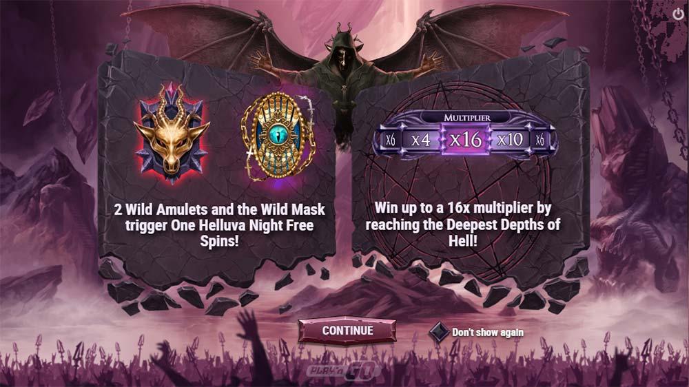 Demon Slot - Intro Screen