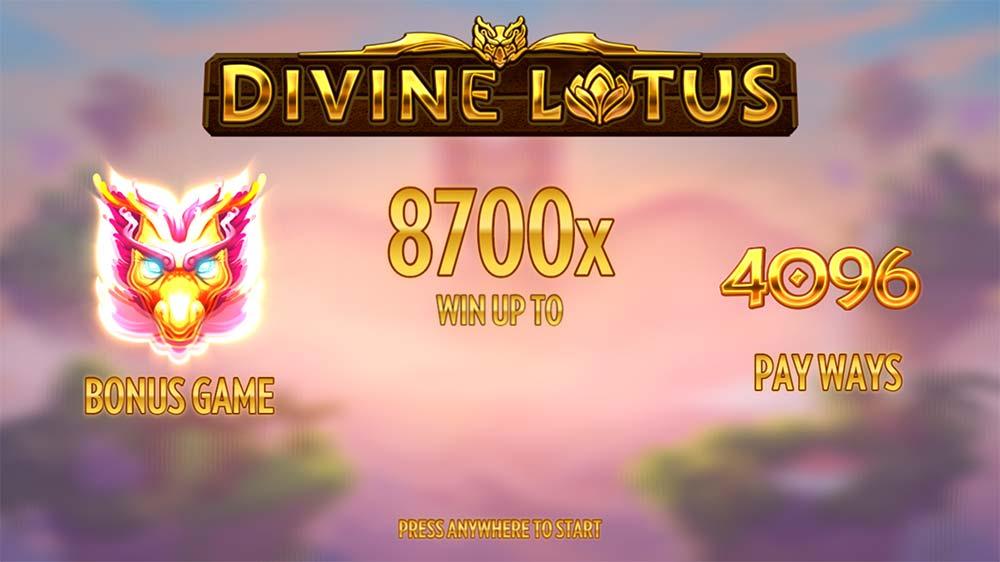 Divine Lotus Slot - Intro Screen