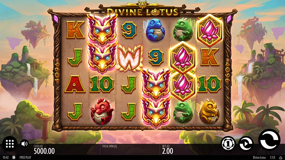 Divine Lotus Slot - Base Game