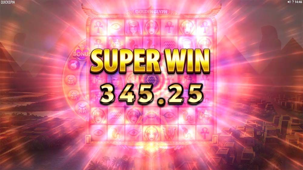 Golden Glyph Slot - Super Win