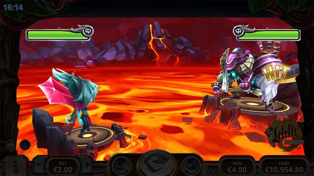 Lilith's Inferno Slot - Bonus Battle Screen