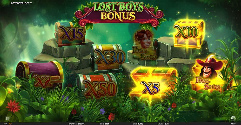 Lost Boys Loot Slot - Picking Round Bonus