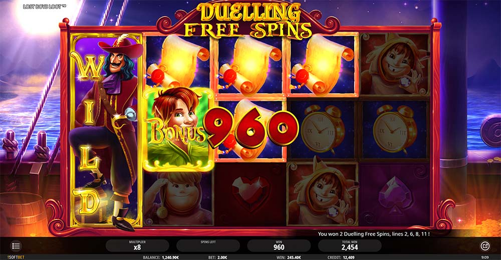 Lost Boys Loot Slot - Duelling Free Spins