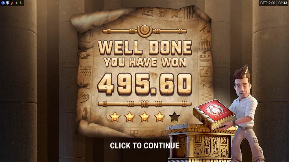 Jungle Jim and the Lost Sphinx Slot - Bonus End