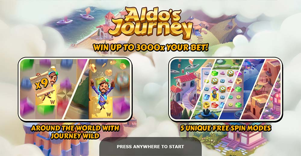 Aldo's Journey Slot - Intro Screen