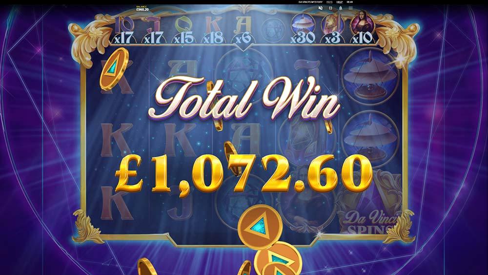 Da Vinci's Mystery Slot - Bonus Round End