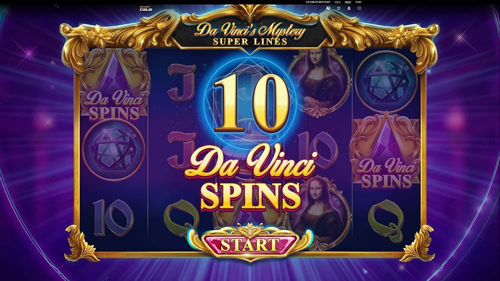 Da Vinci's Mystery Slot - Free Spins