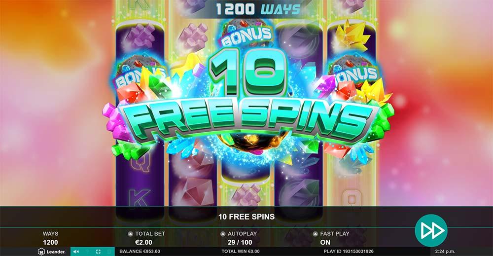 Gem Zone Slot - Free Spins Triggered
