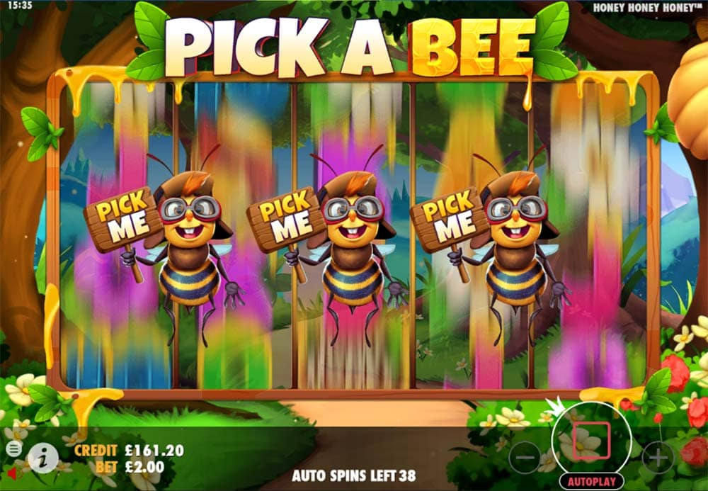 Honey Honey Honey Slot - Picking Bonus