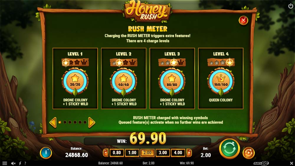 Honey Rush Slot - Rush Meter Feature