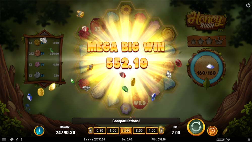 Honey Rush Slot - Mega Big Win