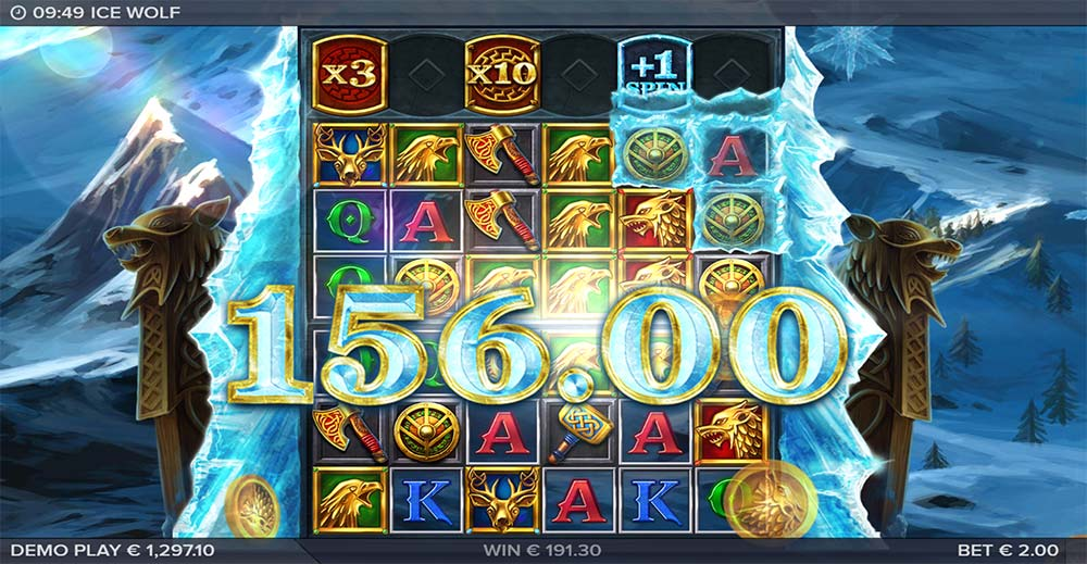 Ice Wolf Slot - Big Win 10x Multiplier