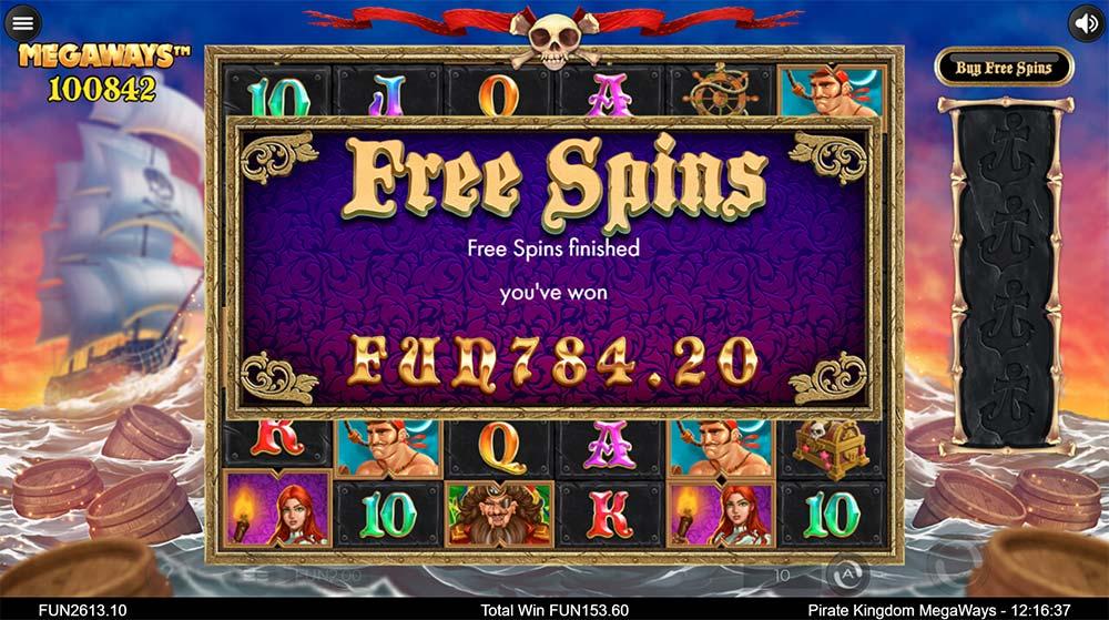 Pirate Kingdom Megaways - Bonus End