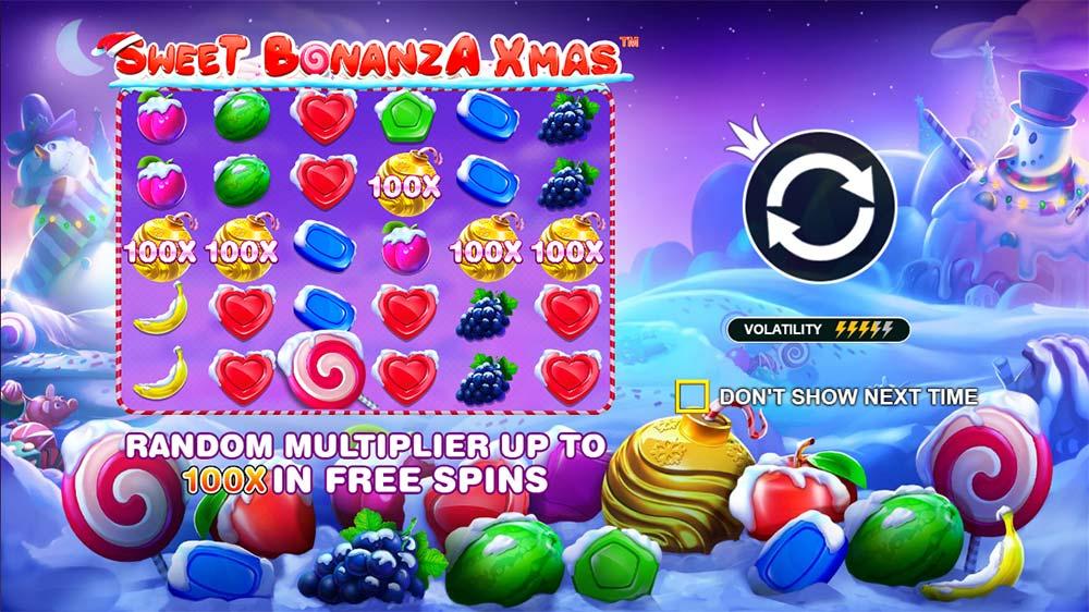 Sweet Bonanza Xmas Slot - Intro Screen