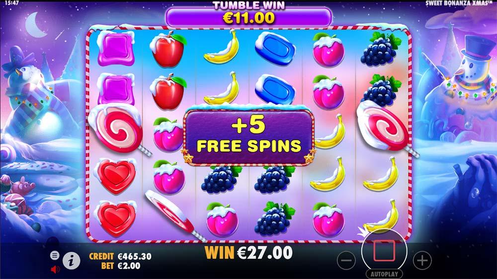 Sweet Bonanza Xmas Slot - Bonus Re-trigger